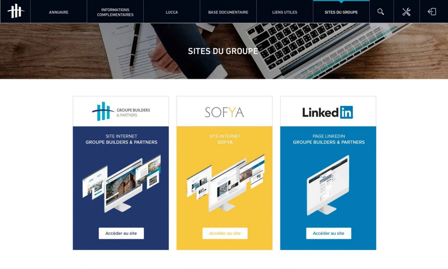 intranet_groupe_builders_sites_du_groupe
