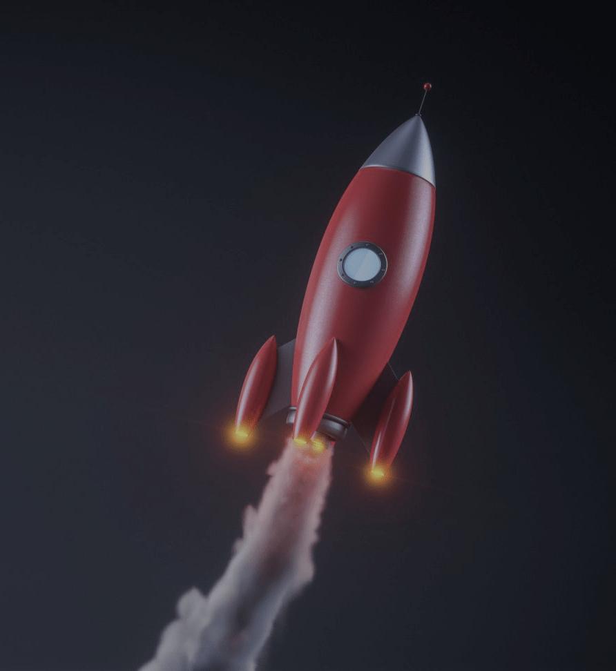 fusée komaxis qui décolle
